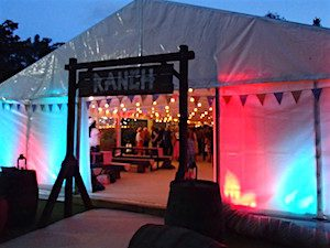 Party marquee Wild West marquee party