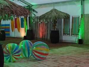 Party marquee beach party