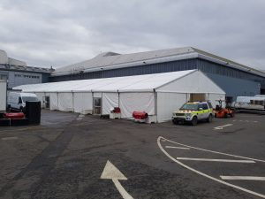 External view of the SEC Centre marquee
