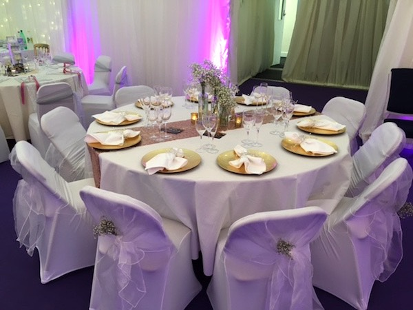 marquee table setting