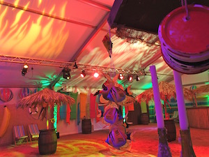 Beach party marquee