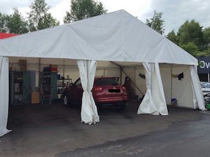 Car valeting marquee for Peter Vardy Perth