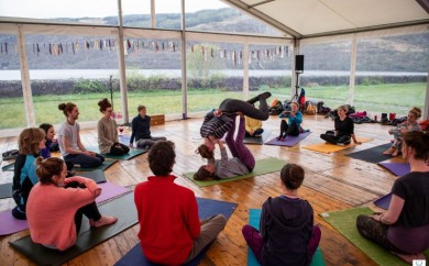 Marquee hire for Scapafest - Yoga and Well Being Festival 2018