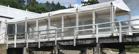 Marquee extension for Tighnabruaich Wedding